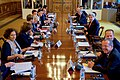 Secretary Kerry SIts With Fellow Foreign Ministers and Leaders at Outset of a Libya Economic Meeting in London (30567695472).jpg