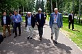 Secretary Kerry Walks With Aspen Institute President and CEO Isaacson and Chairman of the Board Crown (27890244991).jpg