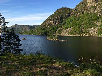 Flekkefjord - View of the lake Selura