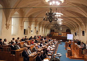 Senate - The debating chamber of the Senate of the Czech Republic in the Wallenstein Palace