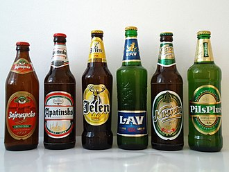 Beer in Serbia - Bottles of popular Serbian brands