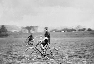 Woolwich Common - Officers playing polo on bicycles on Woolwich Common around 1910