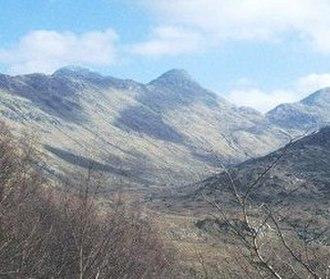 Sgùrr Dhòmhnuill - Looking up Strontian Glen towards Sgurr Dhòmhnuill