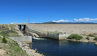 Shadow Mountain Dam Dam in Grand County, near Granby, Colorado, USA