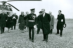 Abdol Karim Ayadi - The Shah of Iran escorted by Abdol Karim Ayadi and the Lord Lieutenant of Nottinghamshire Sir Robert Laycock at West Burton Power Station in 1965