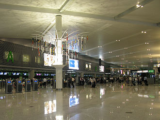 Shanghai Hongqiao International Airport - The check-in hall of the new Terminal 2
