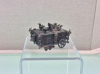 """Rites of Zhou - Image: Shanxi Museum chariot with """"Yue Ren Shou You"""" design"""