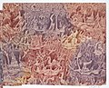 Sheet with figures in landscapes in red, purple, and yellow Met DP887034.jpg