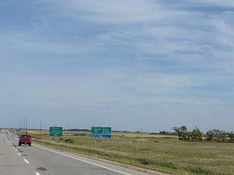 Saskatchewan Highway 56 - Image: Shelter Belt Center Sk Hwy 56Sk Hwy 1