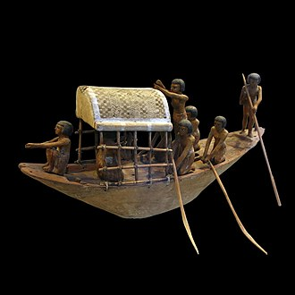 Ship model - model ship from a tomb, Ancient Egypt, c. 2000 BCE