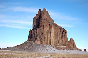 David Brower - Shiprock, first climbed by David Brower and friends in 1939