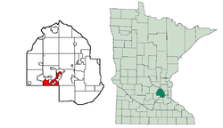 Location of Shorewood within Hennepin County, Minnesota