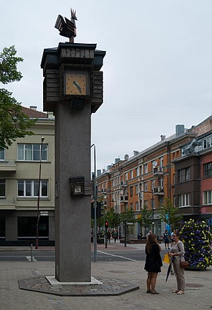 Siauliai Cockerel Love Clock (2013)