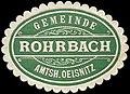 Siegelmarke Gemeinde Rohrbach - Amtshauptmannschaft Oelsnitz W0253143.jpg