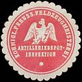 Siegelmarke K.Pr. Feldzeugmeisterei Artilleriedepot-Inspektion W0379416.jpg