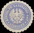 Siegelmarke K.Pr. Landraths-Amt Lübbecke W0387606.jpg
