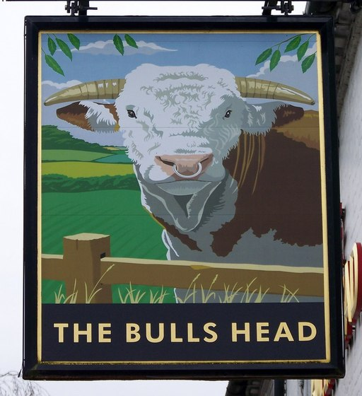 Sign for the Bulls Head - geograph.org.uk - 1721624