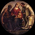 Signorelli, Virgin and Child with Sts Jerome and Bernard of Clairvaux, galleria corsini firenze.jpg