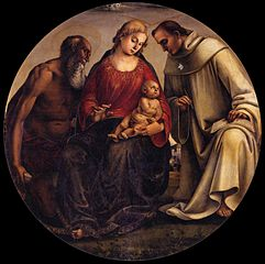 Virgin and Child with Saints Jerome and Bernard of Clairvaux
