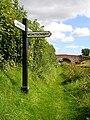 Signpost at Frankton Junction - geograph.org.uk - 551950.jpg