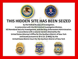 Silk Road (marketplace) - Image placed on original Silk Road after seizure of property by the FBI