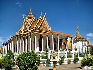 Wat Buddhist temple in Thailand, Cambodia or Laos