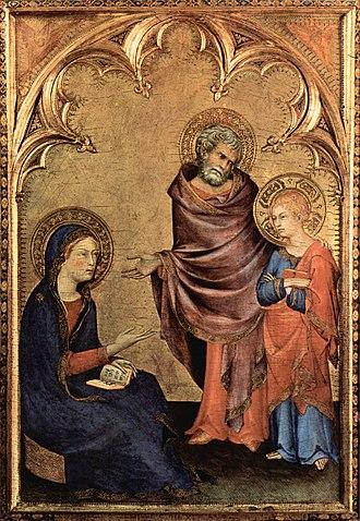 1340s in art - Image: Simone Martini Ritorno di Gesù dal Tempio