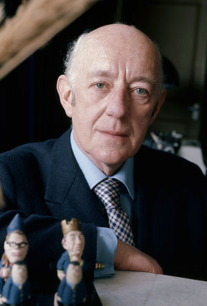 A portrait of English actor Sir Alec Guinness, taken in 1973.