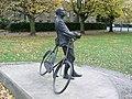 Sir Edward Elgar facing Hereford Cathedral - geograph.org.uk - 541508.jpg