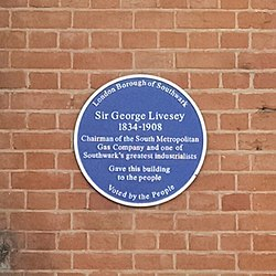 Sir george livesey plaque