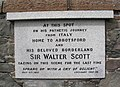 Sir Walter Scott Tablet at Langlee - geograph.org.uk - 554611.jpg