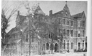 St. Mary's Episcopal Cathedral (Memphis, Tennessee) - Sisters' Chapel and St. Mary's School, 1900