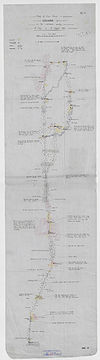 100px sketch of route followed to tarangole%2c in the latook country. %28womat afr bea 111%29