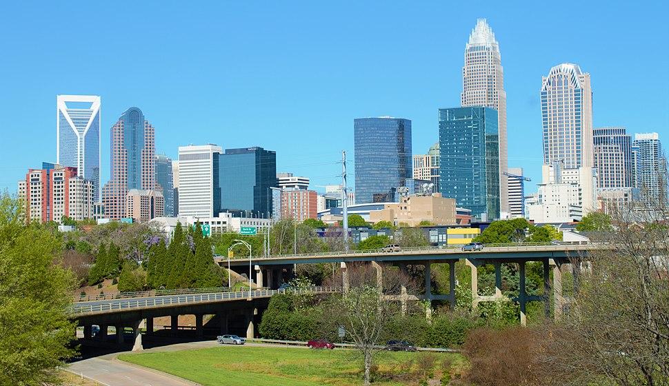 Skyline of Charlotte 2016