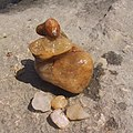 Small pile of rocks from the White River in Bethel, Vermont.jpg