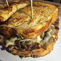 Snack Shack Steak Sandwich - sliced ribeye, pepper jack, tomato, pickled serrano, chipotle aioli, jalapeño bread (14736313234).jpg