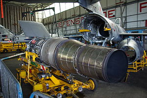 Snecma Atar - An Atar 8K50 removed from a Super Etendard, NAS Landivisiau, France