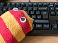 Sock puppet and keyboard.jpg
