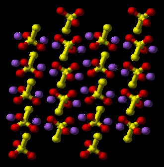 Sodium thiosulfate - Image: Sodium thiosulfate xtal 3D balls