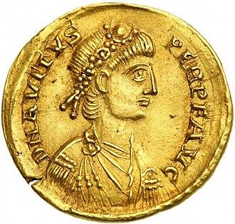 Avitus - Solidus of Emperor Avitus.
