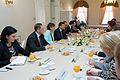 Solvita Āboltiņa tiekas ar Gruzijas premjerministru (9687444424).jpg