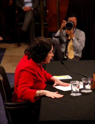 Sonia Sotomayor Supreme Court nomination - Sotomayor before the Senate Judiciary Committee on July 14, 2009.