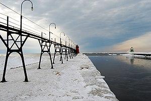 Van Buren County, Michigan - South Haven Light, south pier