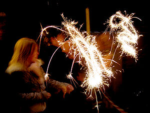Sparkler - Sparklers are popular fireworks for children.