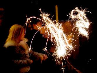 Sparkler - Sparklers are popular fireworks for children.