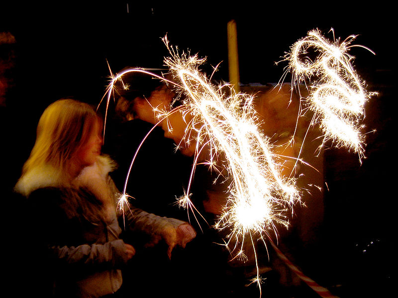 File:Sparklers moving slow shutter speed.jpg