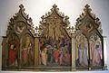 Spinello aretino, crocefissione e santi sisto papa, caterina d'alessandria, margherita e stefano papa) 1395-1400.JPG