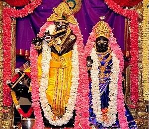 Radha Krishna - Shree Radha Krishna Ashta Shakthi Mandir at Parashakthi Temple, Pontiac, USA