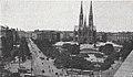 Städtische Straßenbahnen Wien 1903–1913 (page 19 crop) – Maximilianplatz mit der Votivkirche.jpg