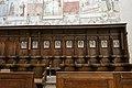 St. Blasi-us Regensburg Albertus-Magnus-Platz 1 D-3-62-000-24 38 Chorgestühl mit Stundentafeln Nordseite.jpg